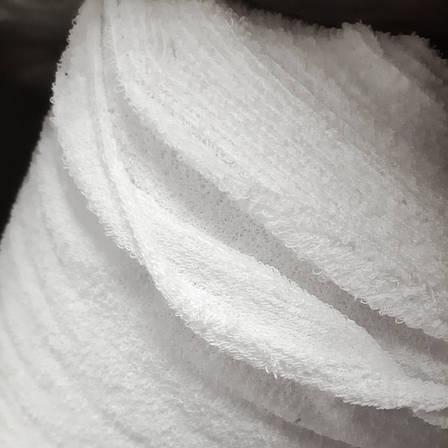 Ткань махровая 200см ширина (430г/м²) Белая, Сертификат, двухсторонняя 55~57м.п./рулон, фото 2