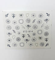 Наклейка для ногтей STZ-814