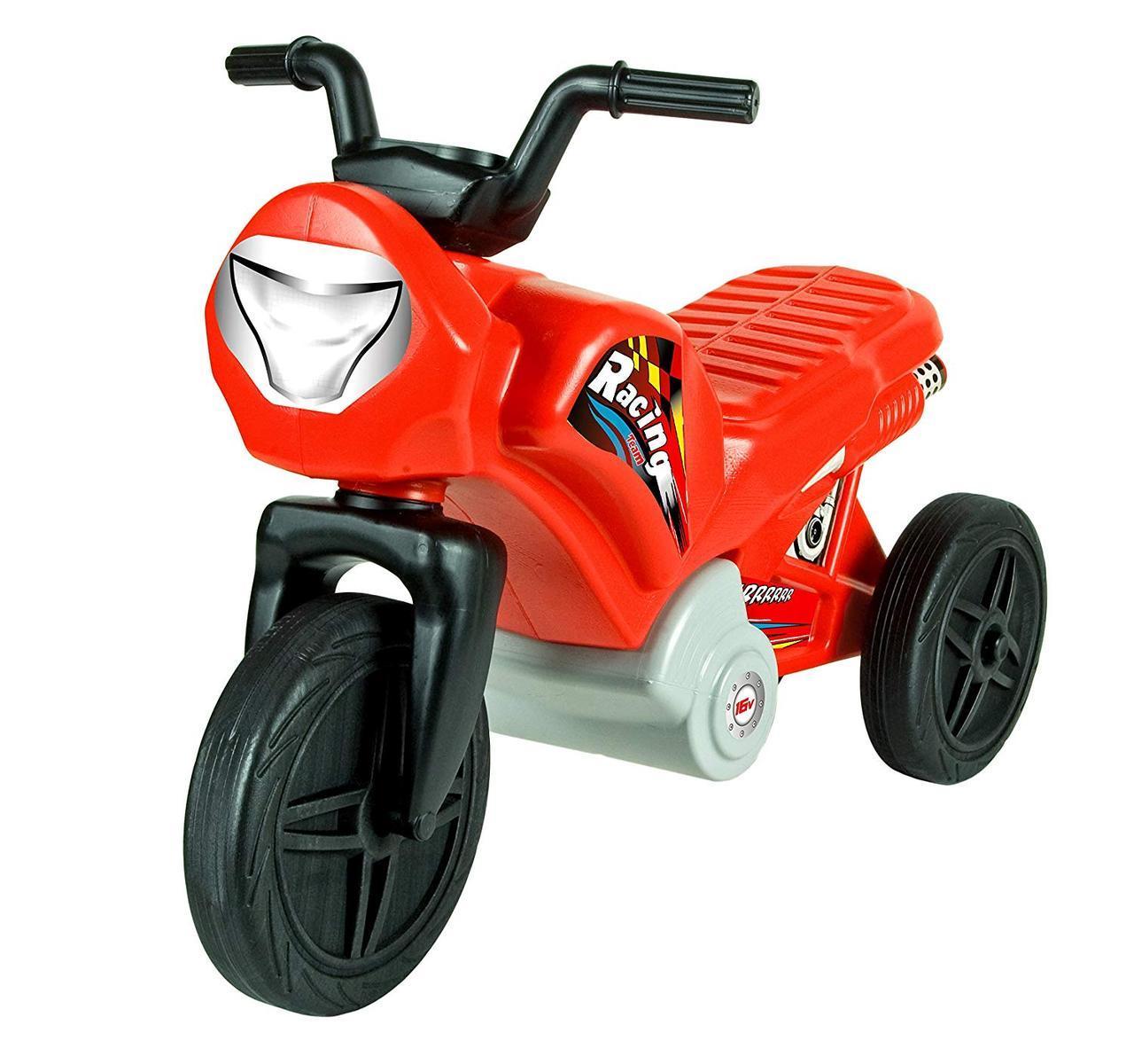 Детский велобег мотоцикл Mochtoys + наклейками (беговел самокат-беговел детский транспорт)