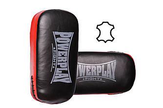 Пади для тайського боксу 3064 Чорно-Червоні Шкіра, пара R143742