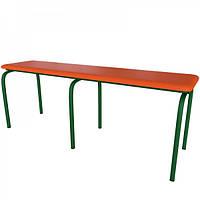 Скамейка в садик, в офис  ,лавка для улицы,лавка  школьная на металлическом каркасе с мягким сидением