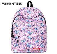 Рюкзак розовый с бабочками