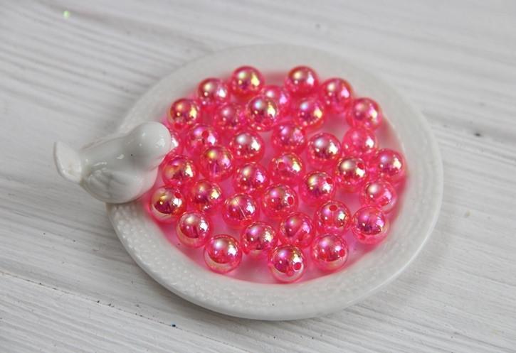 """Бусины   """" Перламутровое Сияние  10 мм """"  , ярко - розовые        500 грамм"""