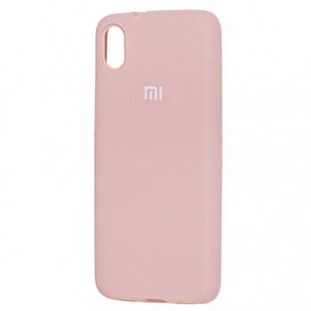 Чехол силиконовый защитный Silicone Cover Full Protective (AA) для Xiaomi Redmi 7A Бирюзовый / Ice Blue Розовый / Pink Sand