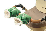 Рукавички-Муфта на коляску Ok Style Снежинка Зеленый, фото 1