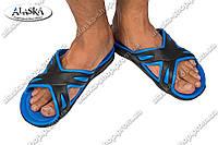 Шлепки мужские черно-синие (Код: С-32), фото 1