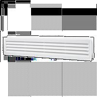Решетка вентиляционная Домовент ДВ 430/2, дверная пластиковая решетка Domovent Украина