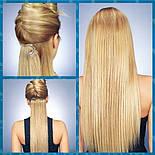 Штучні волосся на заколках. Колір #6А Світло-коричневий, фото 3