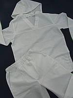 Костюм с У-образным воротом со сьемным капюшоном с регулировками из бязевой хб ткани