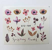 Наклейка для ногтей STZ-709