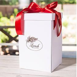 Подарочная коробка для розы в колбе Lerosh - 43 см, Белая - 138976