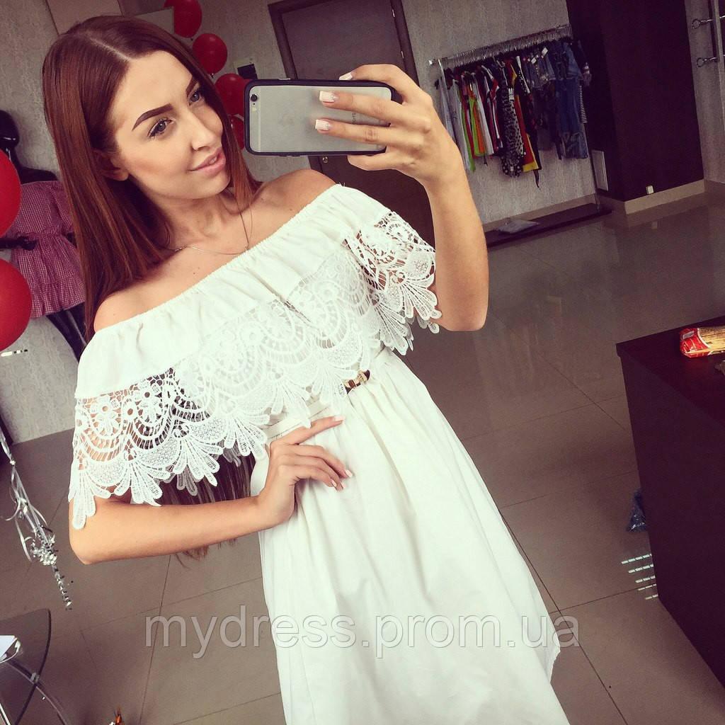 a5fc7a78ef4 Летний х б сарафан с кружевом - MY DRESS SHOP стильная одежда от лучших  производителей