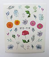 Наклейка для ногтей STZ-719