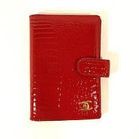 Обложка для паспорта, автодокументов кожаная женская Chanel 9013 красная