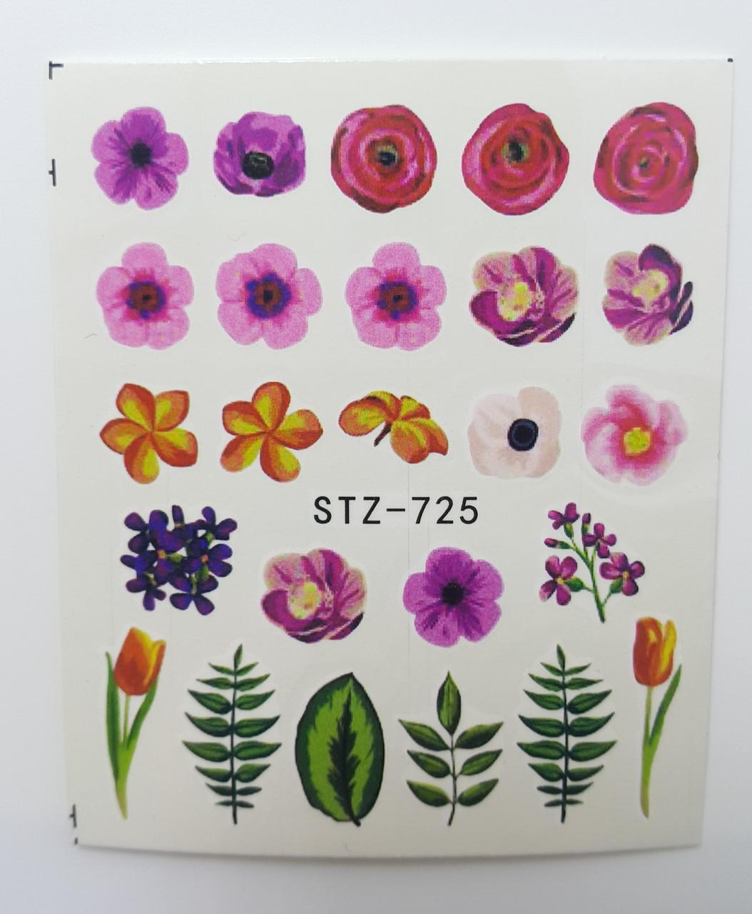 Наклейка для ногтей STZ-725