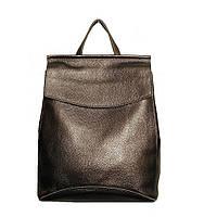 Рюкзак-сумка міській з натуральної шкіри бронзовий GS502-3, фото 1