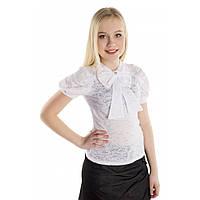 Блузка ажурная белая для девочки подростка