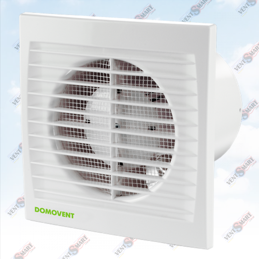 Изображение (фото) осевого вентилятора для вытяжной вентиляции (в ванной комнате, санузле, на кухне) Домовент 125 С1Т.
