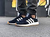 Стильні Чоловічі Кросівки Adidas Iniki чорні Якість Преміум Брендові Адідас репліка 43 44 45 46р, фото 3