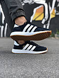 Стильні Чоловічі Кросівки Adidas Iniki чорні Якість Преміум Брендові Адідас репліка 43 44 45 46р, фото 4