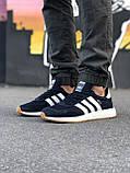 Стильні Чоловічі Кросівки Adidas Iniki чорні Якість Преміум Брендові Адідас репліка 43 44 45 46р, фото 5
