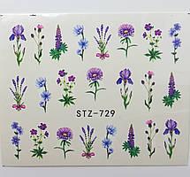 Наклейка для ногтей STZ-729