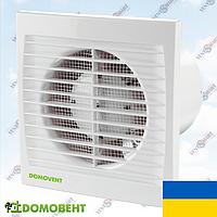Вентилятор Домовент 125 СТ с таймером в ванную (Украина), фото 1