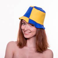 Банная шапка Luxyart Биколор Синий с желтым (LA-086)
