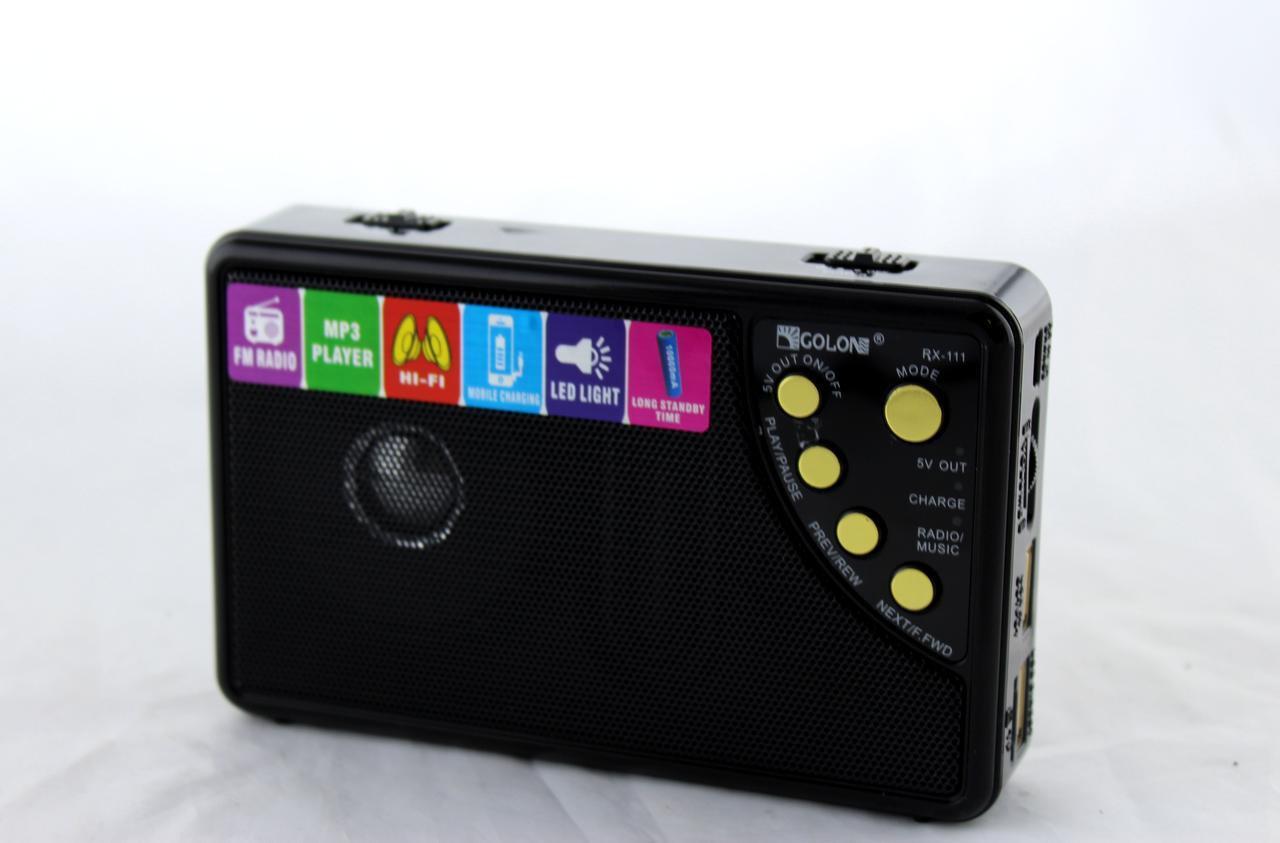 Радио Golon RX-111 с Power Bank, mp3, фонарь (10000 Mah)