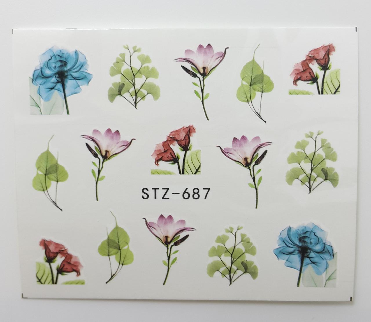 Наклейка для ногтей STZ-687