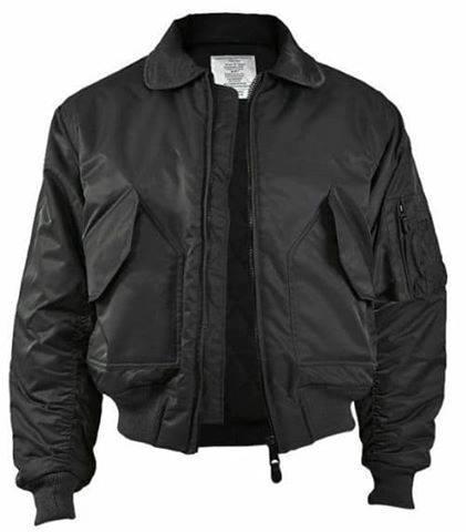 Куртки летные реплика CWU Flight Jacket черные от Miltec