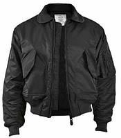 Куртки летные реплика CWU Flight Jacket черные от Miltec, фото 1