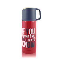 Термос с поилкой и чашкой If You Never Try Yll Never Know - R132052