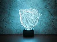3D светильник  Роза, фото 1