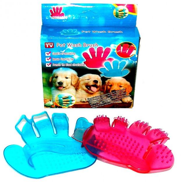 Силиконовая щётка для мытья животных Pet Wash Brush