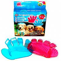 Силиконовая щётка для мытья животных Pet Wash Brush, фото 1