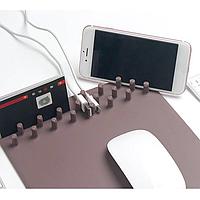 Коврик для мыши Mouse Pad с беспроводная зарядкой для смартфона, фото 1