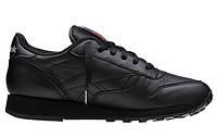 """Кроссовки Reebok Classic Leather """"All Black"""" Арт. 0141, фото 1"""