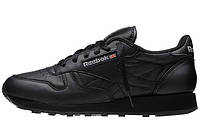 "Кроссовки кожаные Reebok Classic Leather ""All Black"" Арт. 0141"