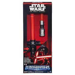 Электронный раскладной световой меч Кайло Рэна - Electronic Lightsaber Kylo Ren, Star Wars, Hasbro - 138258
