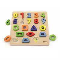 """Набор для обучения Viga Toys """"Цифры и формы"""" (50119)"""