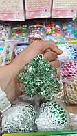 Мозги антистресс с блестками,  цветные в сетке, 12шт, фото 1