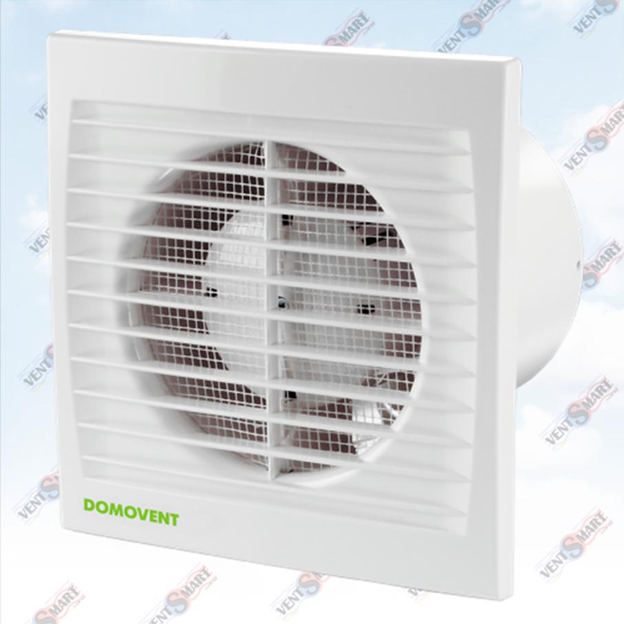 Изображение (фото) осевого вентилятора с таймером для вытяжной вентиляции (в ванной комнате, санузле, на кухне) Домовент 150 СТ.
