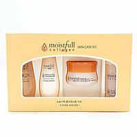 Мини-версии средств с коллагеном Etude House Moistfull Collagen Skin Care Kit Set (toner, emulsion, essence, c