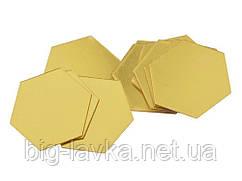 Зеркальная наклейка нга стену 3D  Золотой
