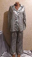 Атласная леопардовая пижамка на х/б основе