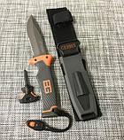 Нож для выживания, туристический Gerber Bear Grylls Replica BG-210 в чехле с огнивом и свистком, фото 2