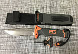 Нож для выживания, туристический Gerber Bear Grylls Replica BG-210 в чехле с огнивом и свистком, фото 4
