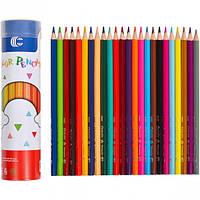 """От 2 шт. Карандаш 24 цвета в тубусе """"С"""" 9801-24 купить оптом в интернет магазине От 2 шт."""