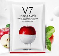 Тонизирующая витаминная тканевая маска Rorec V7 Toning Mask 30 g